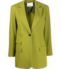 3.1 phillip lim straight single breasted blazer - green