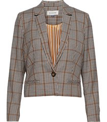dhcolombia blazer checked blazer colbert multi/patroon denim hunter