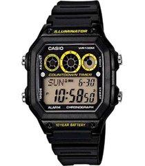 reloj casio ae-1300wh-1a2 digital 100% original-negro
