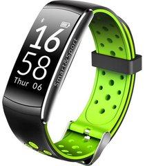 q8 banda inteligente ip68 podómetro pulsera inteligente-verde