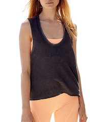 free people movement women's back country tank top - white - size l