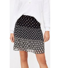 loft patchwork tiered pull on skirt