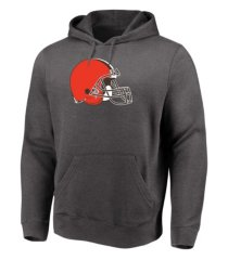 majestic cleveland browns men's distressed logo hoodie