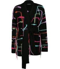 canessa tassel detail knit cardi-coat