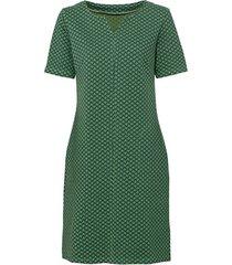 jersey jurk van structuur-jacquard, groen-motief 44