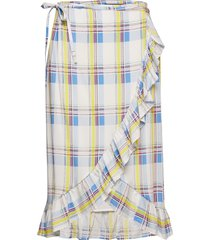 agota-sk_whitecheck knälång kjol multi/mönstrad storm & marie