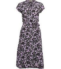 hilma dress jurk knielengte paars twist & tango
