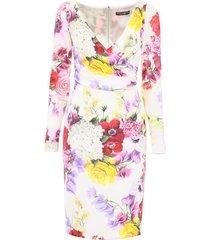 dolce & gabbana hortensia print dress