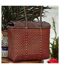 plastic shoulder bag, 'autumn occasion' (mexico)