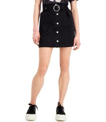 tinseltown juniors' button-front denim skirt
