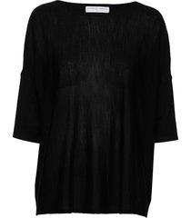 wide tee-shirt t-shirts & tops short-sleeved svart cathrine hammel