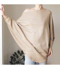 sweterek oversize długi camel