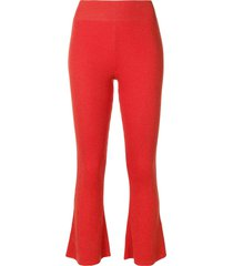 cashmere in love tilly ribbed trousers - yellow
