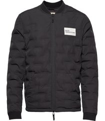 halo quilted jacket doorgestikte jas zwart halo