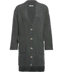 cardigã de tricot com botões isabella fiorentino para oqvestir - verde