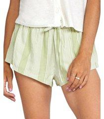 rvca juniors' camron striped shorts