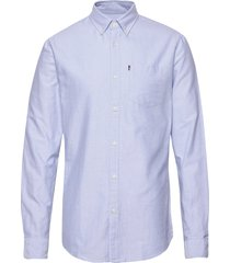 kyle organic cotton oxford shirt overhemd business blauw lexington clothing