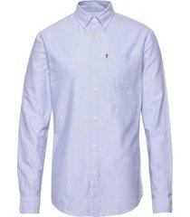 kyle organic cotton oxford shirt overhemd business blauw lexington clothing