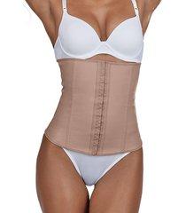 cinta abdominal modeladora demillus 40600 bege rosado - tricae