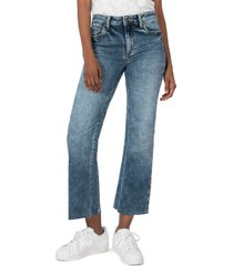 women's kut from the kloth kelsey high waist ankle flare jeans, size 16 - blue