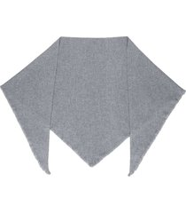 isabel marant frayed cashmere shawl - grey
