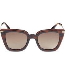 jimmy choo women's ciara 52mm cat eye sunglasses - havana