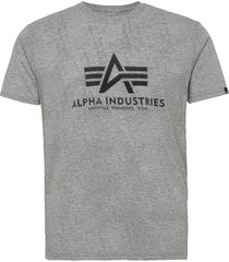 basic t-shirt t-shirts short-sleeved grå alpha industries