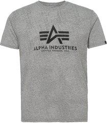 basic t-shirt t-shirts short-sleeved grå alpha industries