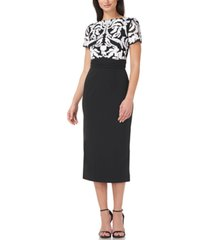 js collections soutache-top midi dress
