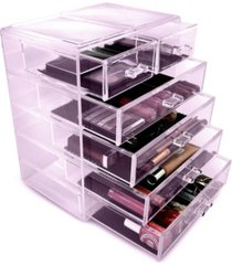 sorbus cosmetic makeup and jewelry storage case display - 4 large 2 small drawers