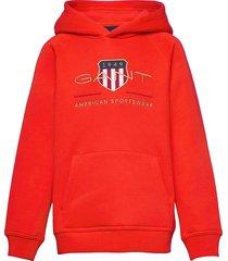 archive shield hoodie hoodie trui rood gant