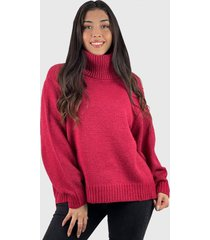 sweater beatle lana mujer boho rojo enigmática boutique