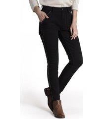 jeans mujer lise algodón negro rockford
