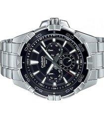 mtd-1069d-1a2 reloj negro hombre multi calendario