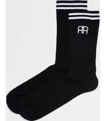 river island mens black rr stripe tube socks 1 pair