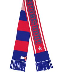 hilfiger collection mascot striped long scarf - red