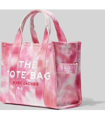 marc jacobs women's the tie dye mini tote bag - pink multi