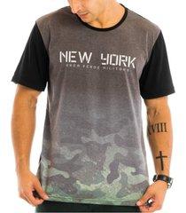 camiseta masculina military estampada frontal - area verde - multicolorido - masculino - dafiti