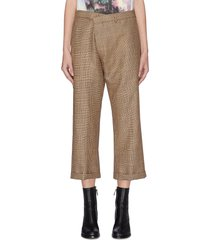 crossover wide leg pants