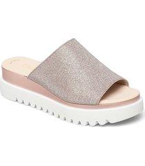 pantolette shoes summer shoes flat sandals grå gabor