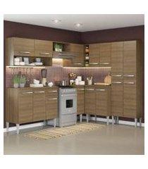 cozinha completa de canto reto madesa emillyicecom armário e balcão 15 portas 1 gaveta rustic rustic