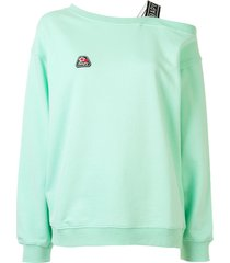 bapy by *a bathing ape® asymmetric shoulder logo sweatshirt - green