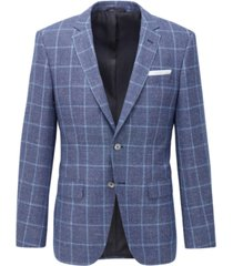 boss men's hutsons4 medium blue jacket