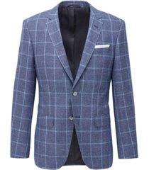 boss men's hutsons4 medium blue jacket