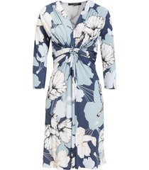 women's ilse jacobsen floral twist front dress, size x-large - blue