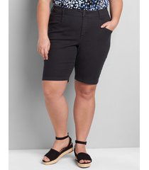 lane bryant women's signature fit slim bermuda short 26 black