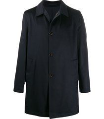kired fine knit buttoned coat - blue
