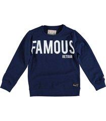 retour sweater indigo blue