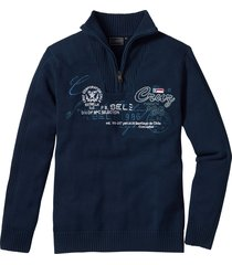 pullover con cerniera regular fit (blu) - bpc selection