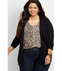maurices plus size womens pointelle back open front cardigan